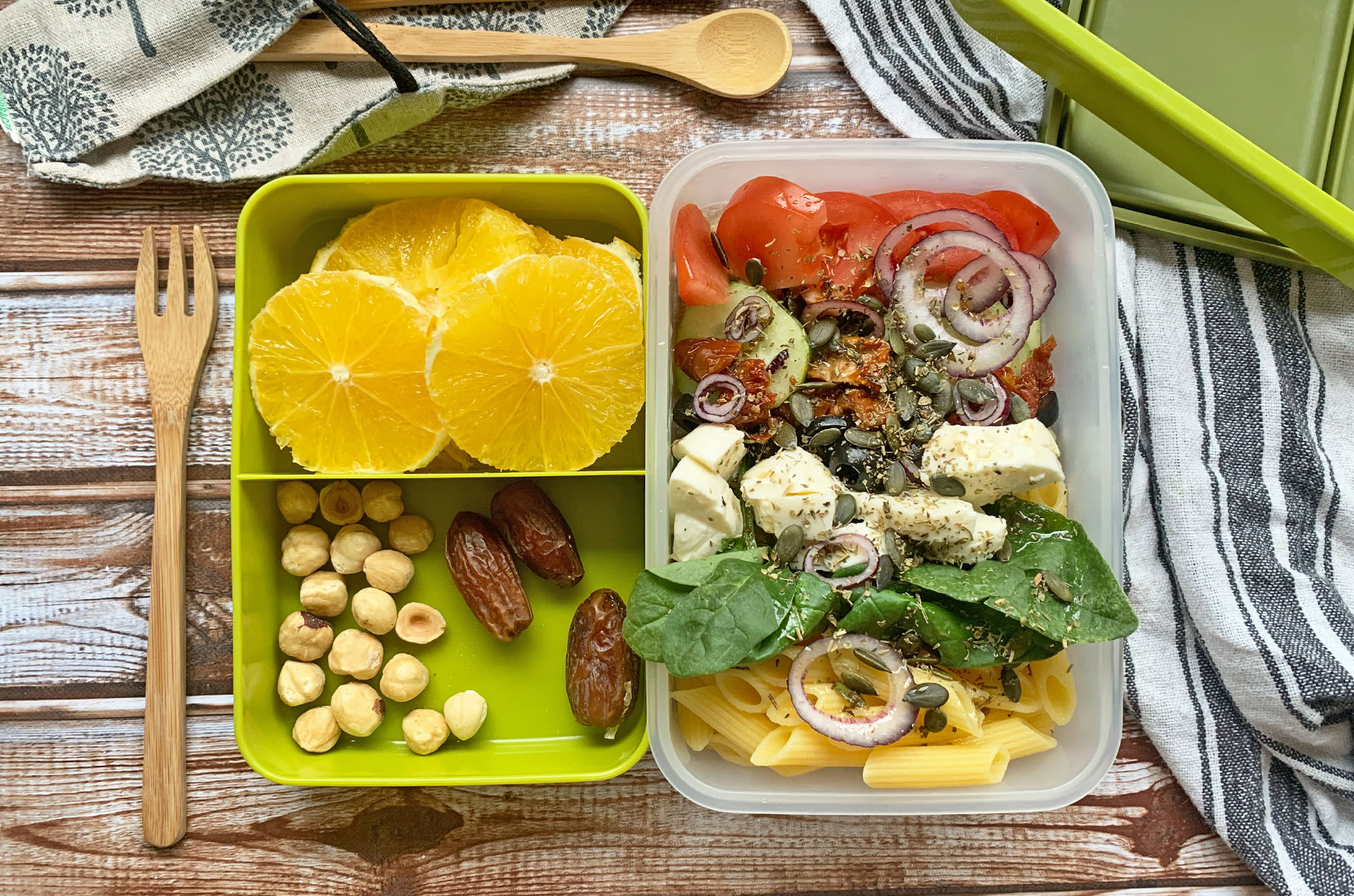 Pomysł na lunchbox z mozzarellą | greenmenu.pl
