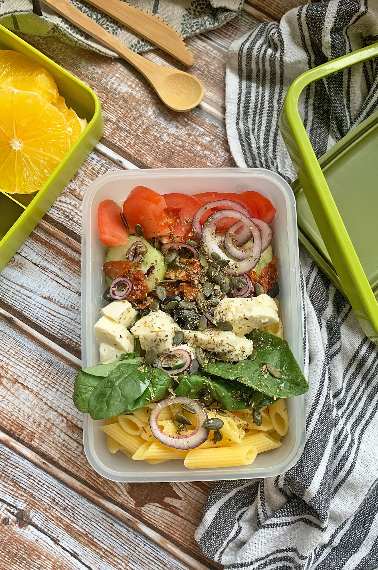 Pomysł na lunchbox z mozzarellą   greenmenu.pl
